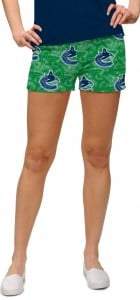 Vancouver Johnny Canuck Green StretchTech Women's Mini Short MTO