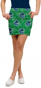 Vancouver Johnny Canuck Green StretchTech Women's Skort/Skirt MTO