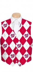 Nationals Argyle StretchTech Men's Vest MTO