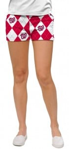 Nationals Argyle StretchTech Women's Mini Short MTO