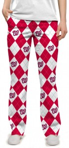 Nationals Argyle StretchTech Women's Capri/Pant MTO