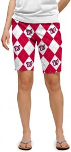 Nationals Argyle StretchTech Women's Bermuda Short MTO
