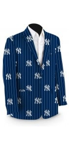 Yankees Pinstripe Navy StretchTech Men's Sport Coat MTO