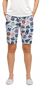 Yankees Retro StretchTech Women's Bermuda Short MTO