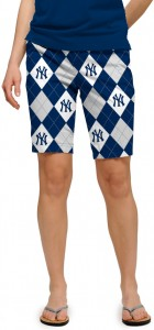 Yankees Pinstripe Navy Women's Bermuda Short MTO