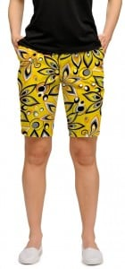 Shagadelic Yellow Women's Bermuda Short MTO
